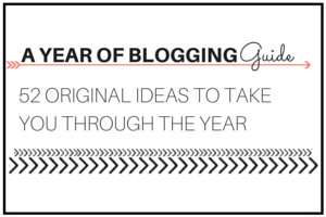 A YEAR OF BLOGGING